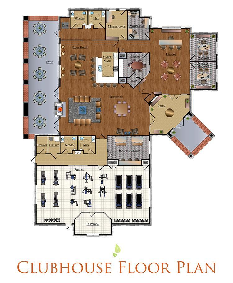 The Villas at Nature Walk Clubhouse Floor Plan