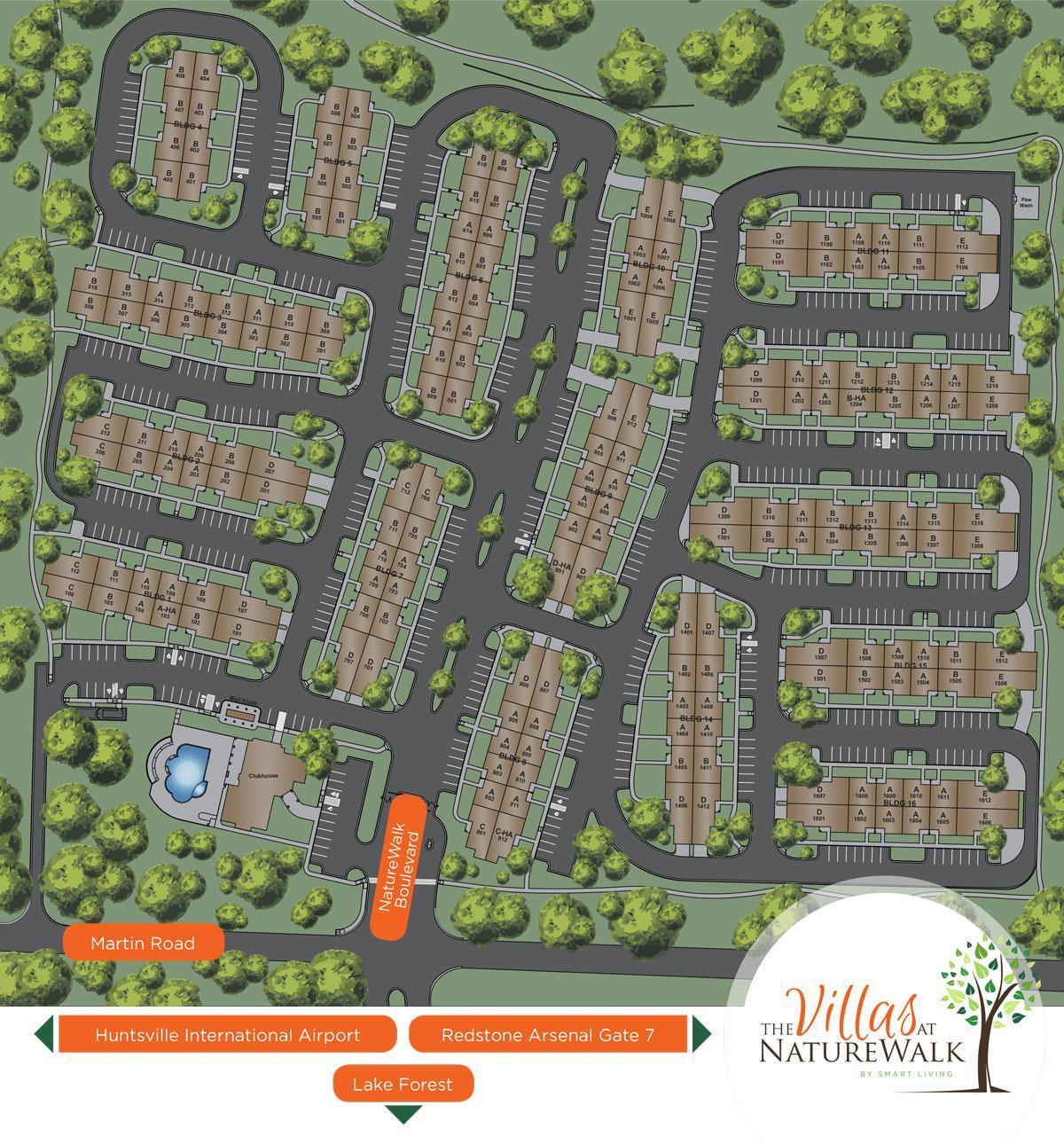 The Villas at Nature Walk Site Plan